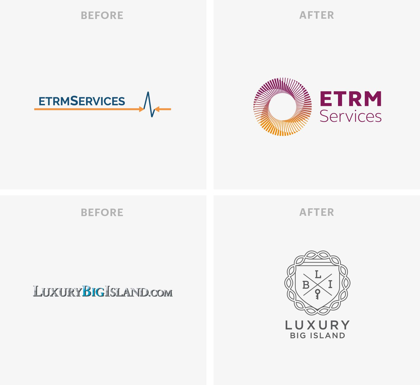 Logos Before and After
